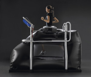 Balance's higher spec Anti-gravity treadmill - Alter-G. Higher speed and incline, more responsive treadmill, touch screen operation.